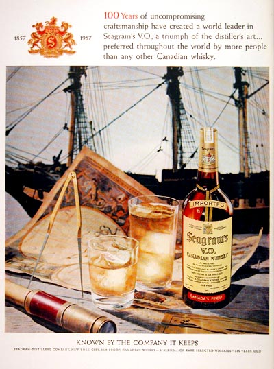 1957 Seagram's V.O. Whiskey #007094