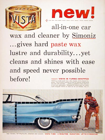 1957 Simoniz Vista Car Wax #006871