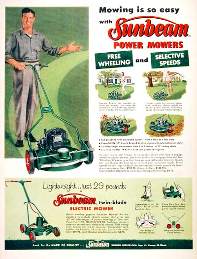 1957 Sunbeam Lawn Mowers #007204