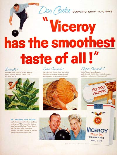 1957 Viceroy Cigarettes #007200