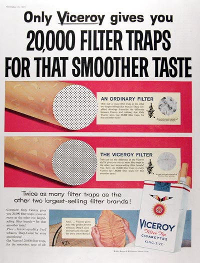 1957 Viceroy Cigarettes #014656