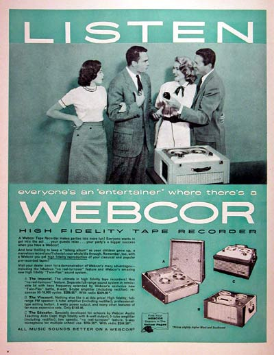 1957 Webcor Tape Recorder #006853