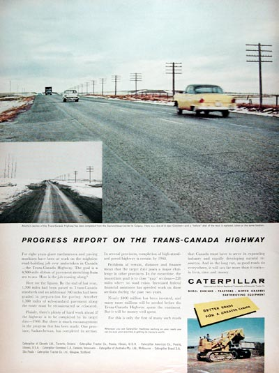 1958 Caterpillar Trans Canada Highway #010042