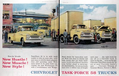 1958 Chevrolet Task Force Trucks #014802