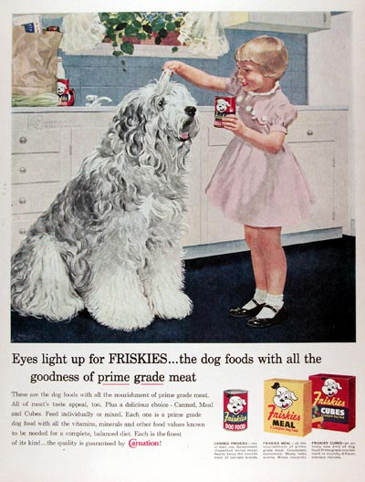 1958 Friskies Dog Food #024833