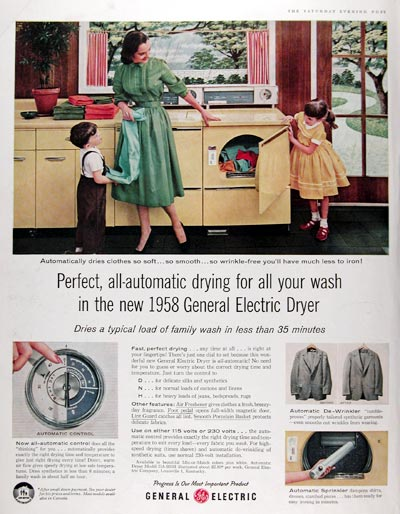1958 General Electric Dryer #014797