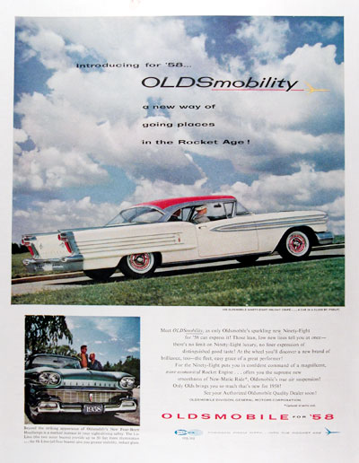 1958 Oldsmobile 98 Holiday Coupe #014654