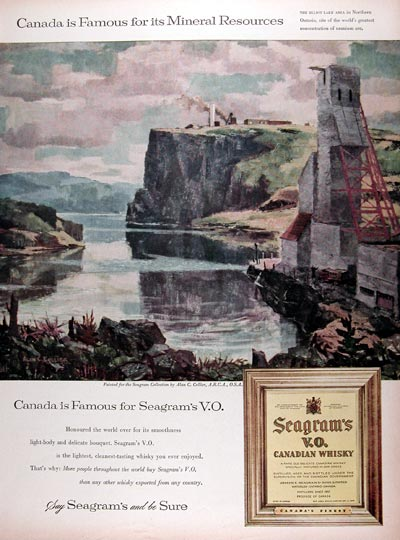 1958 Seagram's V.O. Whiskey #010045