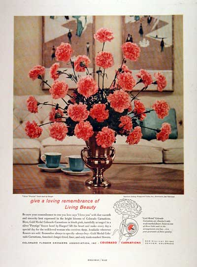 1959 Colorado Carnations #002882