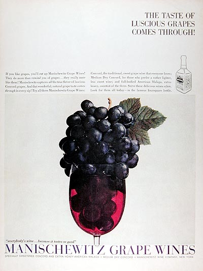 1959 Manischewitz Grape Wines #009401
