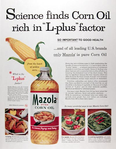 1959 Mazola Corn Oil #018808