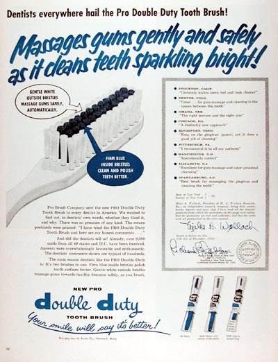 1959 Pro Double Duty Toothbrush #009415