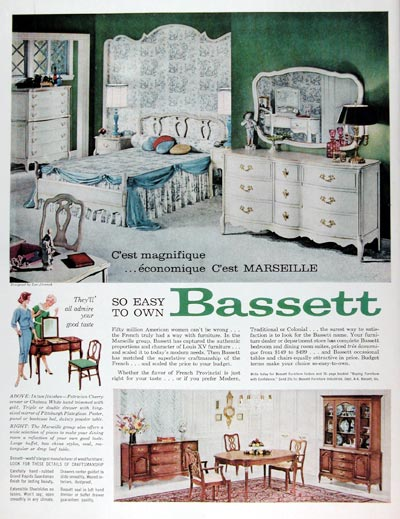 1960 Bassett Marseille Furniture #015381