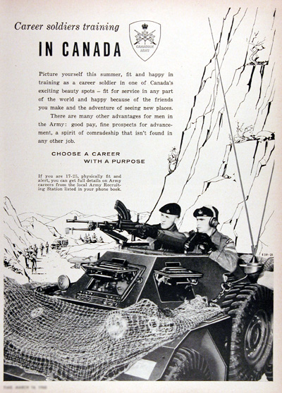 1960 Canadian Army Recruitement Vintage Ad #025339