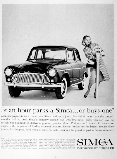1960 Chrysler Simca #000839