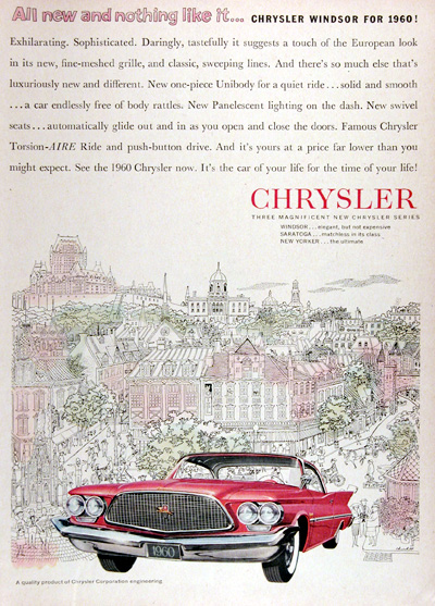 1960 Chrysler Windsor Vintage Ad #025344