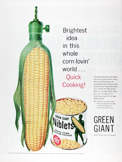 1960 Green Giant Niblets Corn #011358