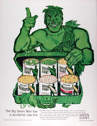 1960 Green Giant Peas & Corn #015444