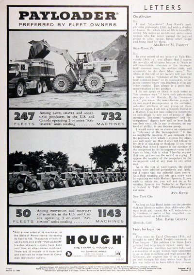 1960 Hough Payloaders Vintage Ad