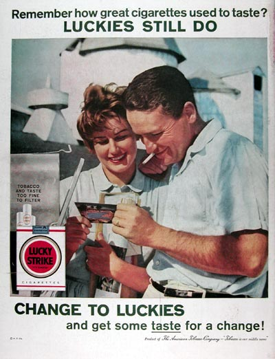 1960 Lucky Strike Cigarettes #015449