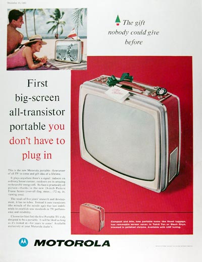 1960 Motorola Portable TV #010197