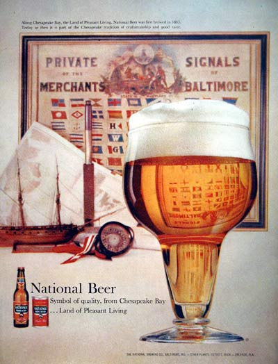1960 National Beer #004335
