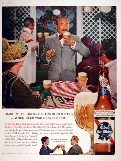 1960 Pabst Blue Ribbon Beer #004326