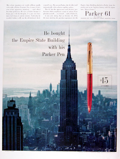 1960 Parker Fountain Pen #011320
