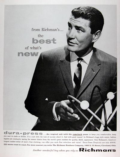 1960 Richman's Men's Suits #015376