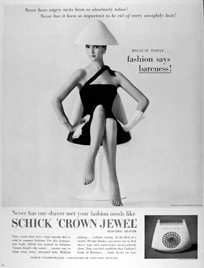1960 Schick Crown Jewel Lady Shaver #015343