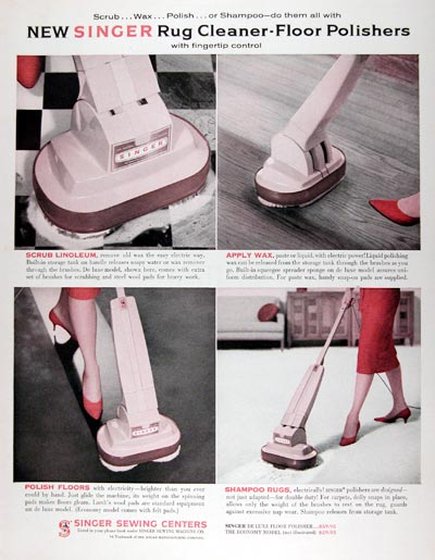 1960 Singer Floor Polisher Cleaner #011373