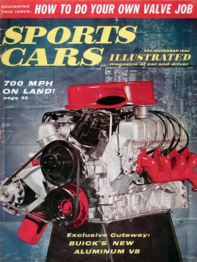 1960 Sports Car Illustrated Cover ~ Buick's Aluminum V8 #0023766
