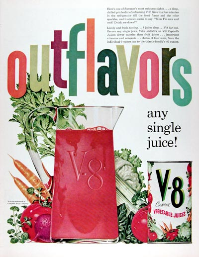 1960 Campbell's V-8 Vegetable Juice #015357