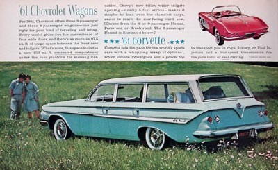 1961 Chevrolet Nomad Station Wagon Corvette Convertible