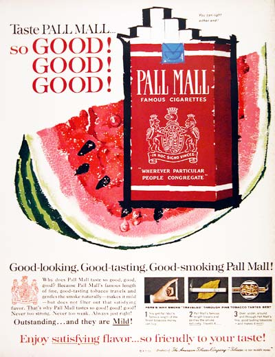 1961 Pall Mall Cigarettes #003642