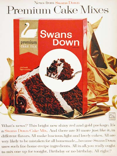 1961 Swans Down Cake Mix #003645