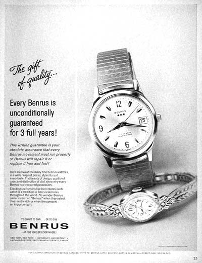 1962 Benrus Watch #002439