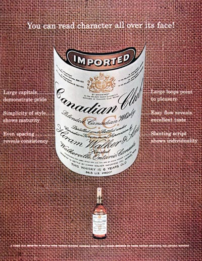 1962 Canadian Club Whiskey #024923