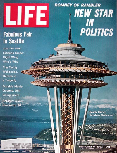 1962 Life Cover ~ Seattle Space Needle #024863