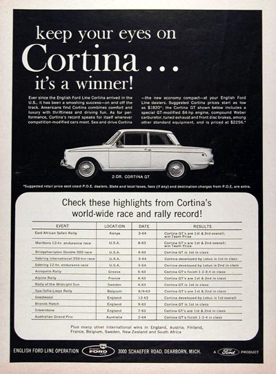 1964 Ford Cortina GT #023305