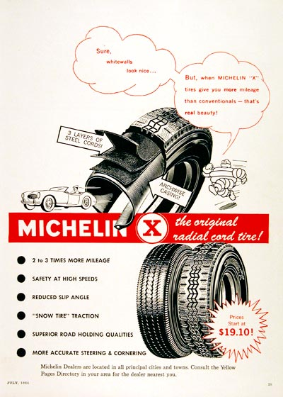 1964 Michelin Radial Tires #004645