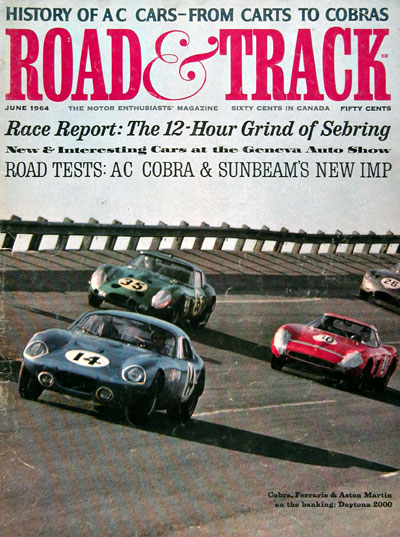 1964 Road & Track Cover - Cobra at Daytona #023296