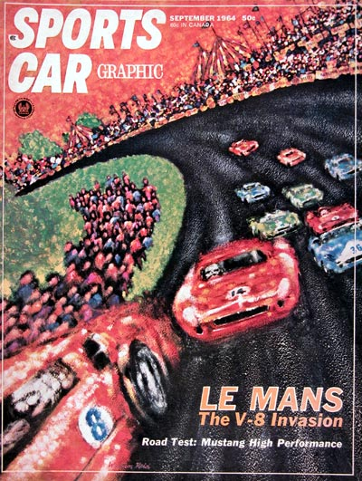 1964 Sports Car Graphic Cover ~ Lemans #023421