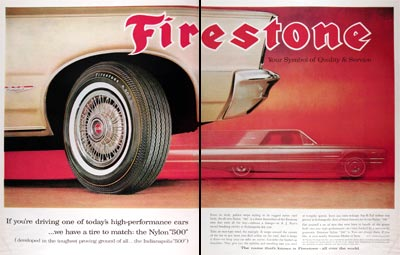 1965 Firestone 500 Tires #018574