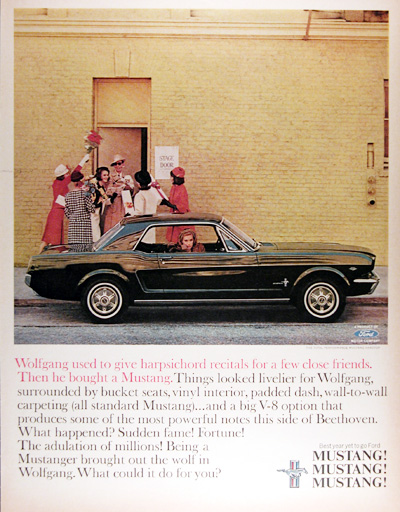 1965 Ford Mustang Hardtop Vintage Ad #025357
