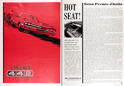 1965 Olds 442 Convertible Vintage Ad #004620