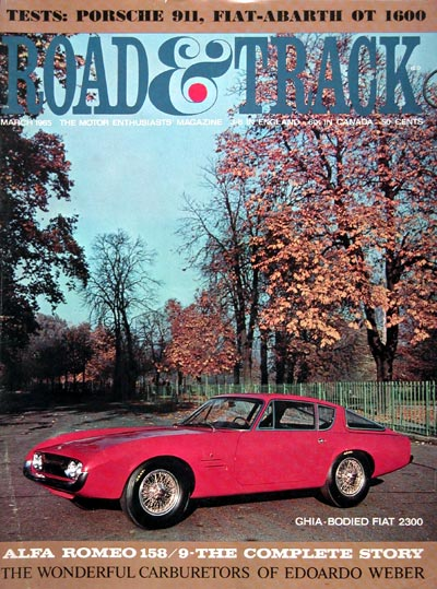1965 Road & Track Cover ~ 1965 Fiat 2300 #0023347