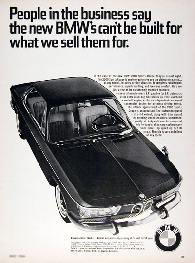 1966 BMW 2000 Sport Coupe #023334