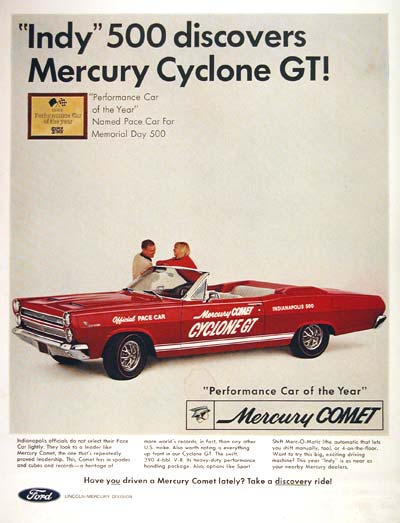 1966 Mercury Comet Cyclone #002536