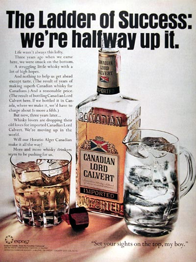 1967 Canadian Lord Calvert Whiskey #025009